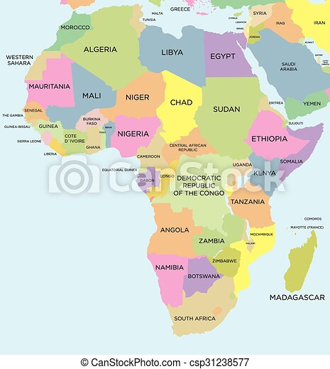 Coloured political map of Africa - csp31238577