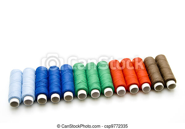 Coloured sewing cotton - csp9772335