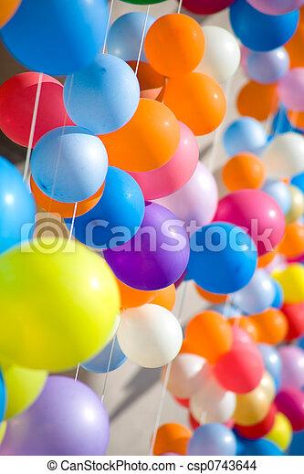 Colourful air balloons. - csp0743644