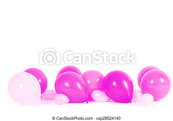 Colourful balloons isolated - csp28524140