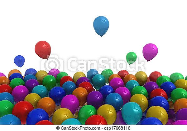 Colourful balloons - csp17668116
