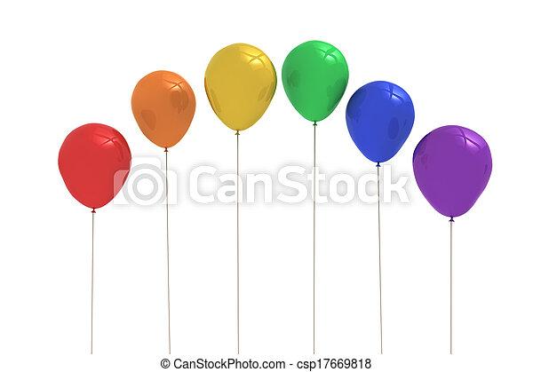 Colourful balloons - csp17669818