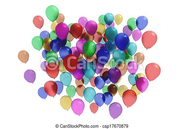 Colourful balloons - csp17670879