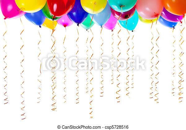 colourful balloons  - csp5728516