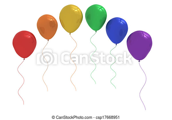 Colourful balloons - csp17668951