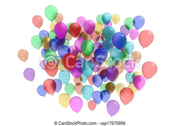Colourful balloons - csp17670956