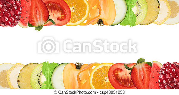 Colourful banner of fruits - csp43051253