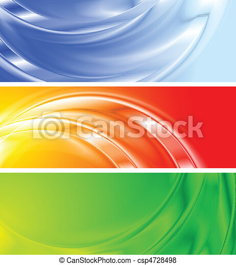 Colourful banners (NO gradient mesh) - csp4728498
