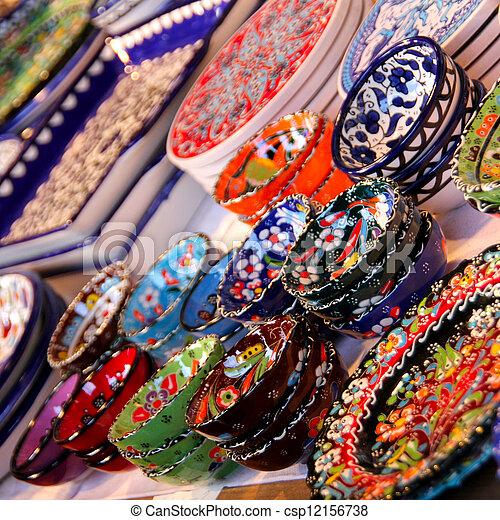 Colourful Ceramics - csp12156738  sc 1 st  Can Stock Photo & Colourful ceramics. Beautiful colourful ceramic tableware... stock ...