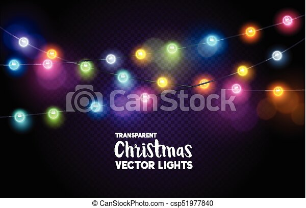 Christmas Fairy Lights Transparent.Colourful Christmas Fairy Lights