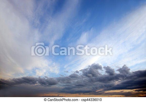 colourful clouds heaven at sunset - csp44336010