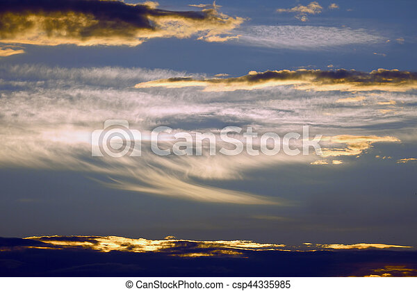 colourful clouds heaven at sunset - csp44335985