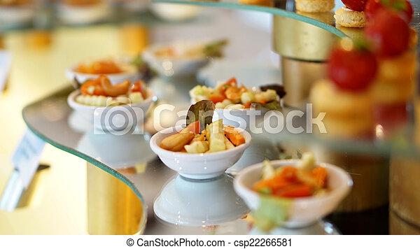colourful dessert buffet - csp22266581
