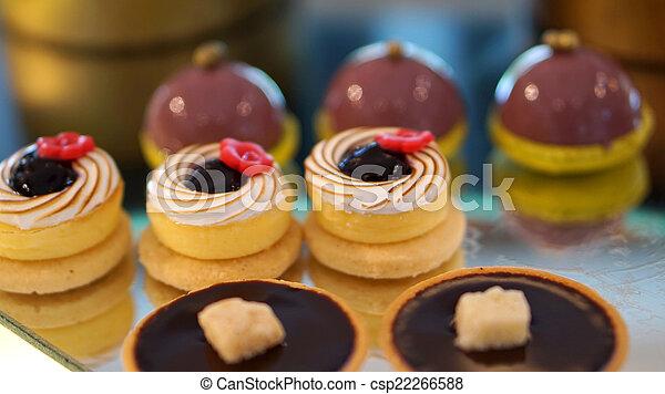 colourful dessert buffet - csp22266588