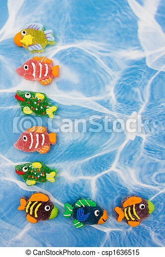 Colourful Fish Border - csp1636515