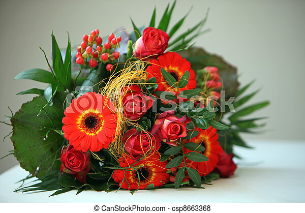 Colourful Floral Bouquet - csp8663368