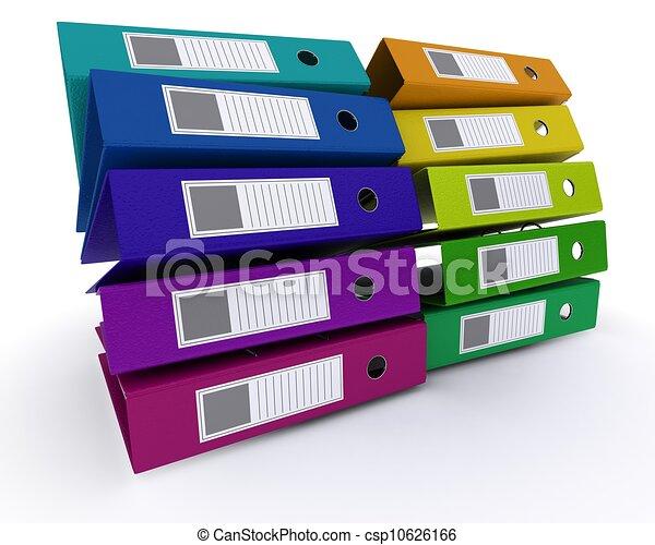 colourful folders - csp10626166