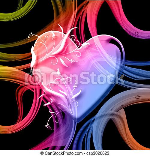 colourful heart - csp3020623