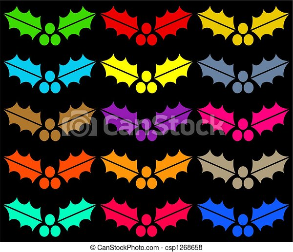 colourful holly - csp1268658