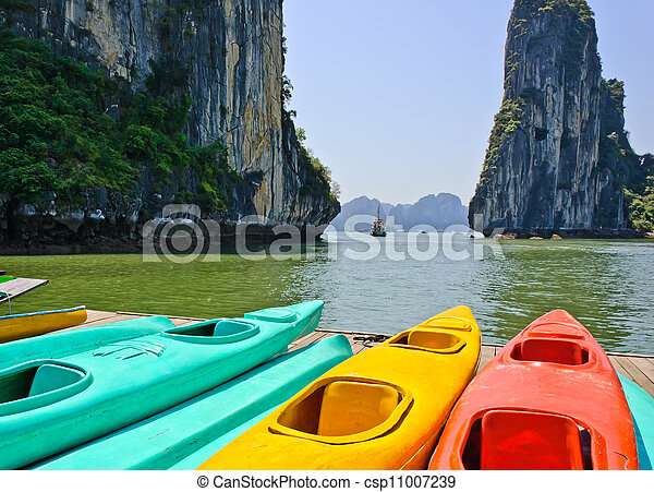 Colourful kayaks - csp11007239