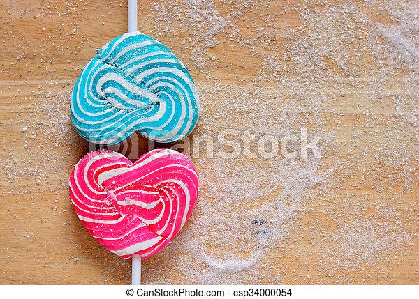 Colourful lollipop  - csp34000054