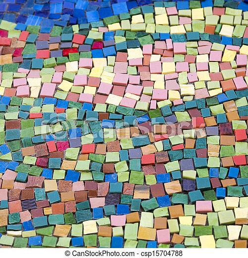 Colourful mosaic pattern - csp15704788