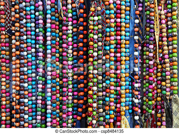 Colourful necklaces - csp8484135