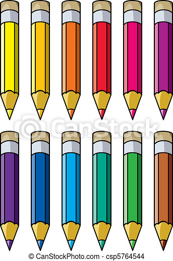 vector colourful pencils clipart rh canstockphoto com clip art pencil images clipart pencil sharpener