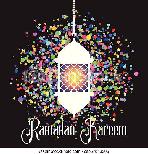 Colourful Ramadan Kareem background - csp67813305