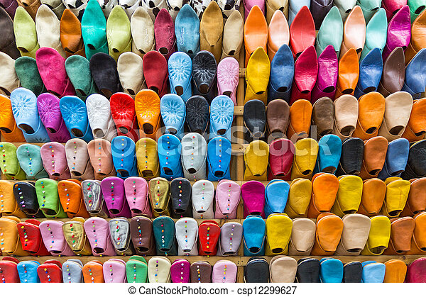 Colourful Slippers wall - csp12299627