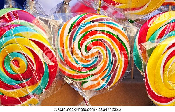 Colourfull lollipop - csp4742326