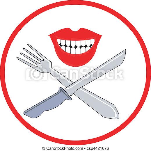coltello, forchetta, simbolo - csp4421676