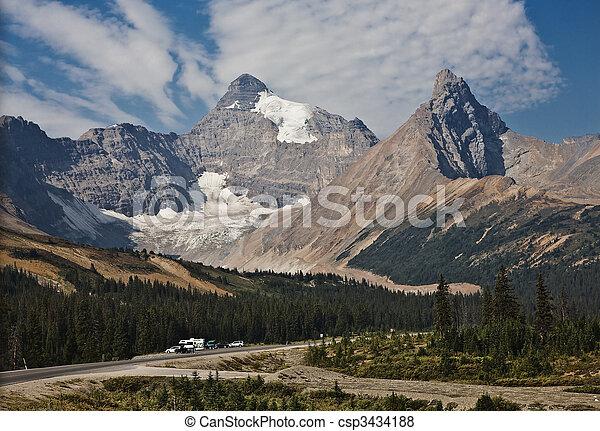 Columbia Icefield - Jasper National Park - Alberta Canada - csp3434188