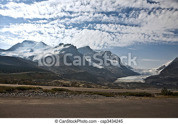 Columbia Icefield - Jasper National Park - Alberta Canada - csp3434245