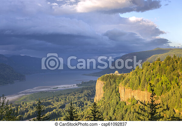 aafe1a85a3b Columbia river gorge cluds and sunset. Columbia river gorge clouds ...