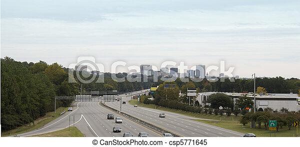 Columbia SC skyline pano - csp5771645