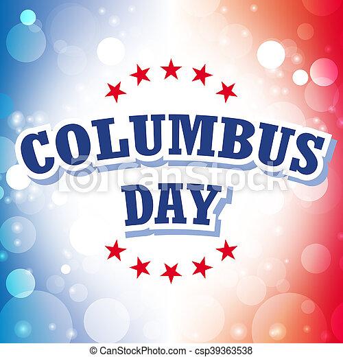Columbus Day USA Banner - csp39363538