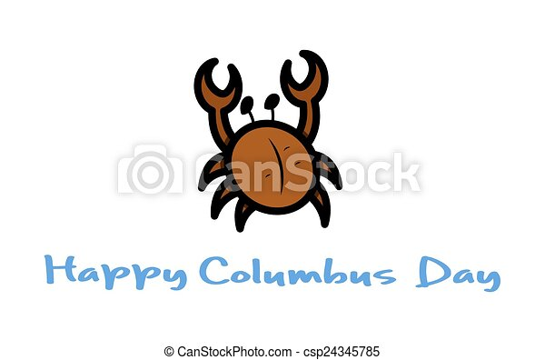 columbus day crab vector retro cartoon crab presenting vector rh canstockphoto ca christopher columbus day clipart columbus day clip art free