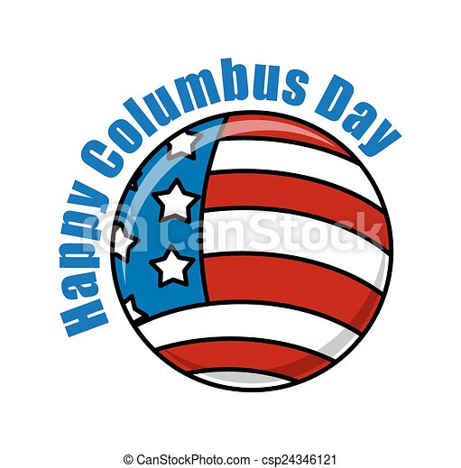 columbus day usa globe banner retro usa flag globe columbus rh canstockphoto ie happy columbus day clipart happy columbus day clipart
