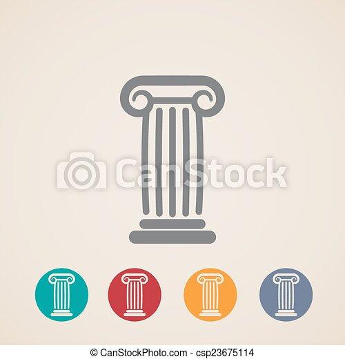Un conjunto de iconos de columnas antiguas - csp23675114