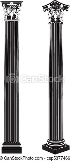 Columna corinthiana griega - csp5377466