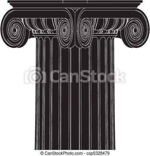 Columna iónica griega - csp5328479
