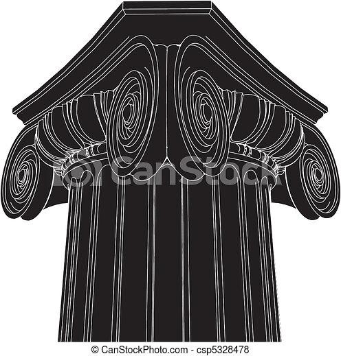 Columna iónica griega - csp5328478
