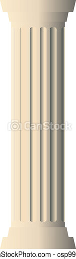 Ilustración de vector de columna - csp9956936