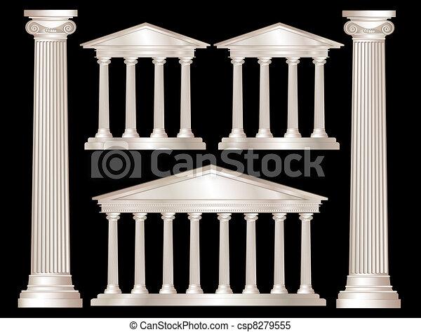 Columnas griegas - csp8279555