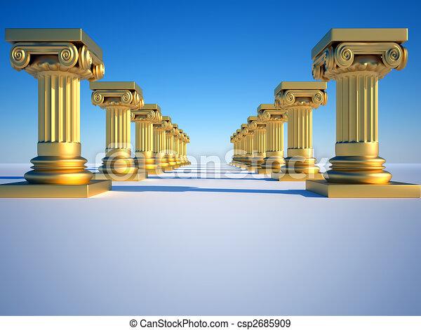 Columnas romanas - csp2685909