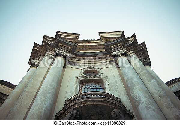 columns at cathedral in Lviv - csp41088829