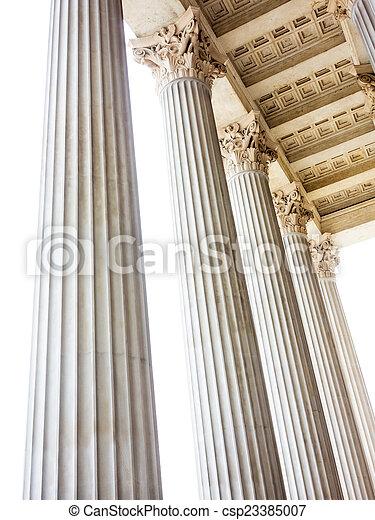 columns at the parliament in vienna - csp23385007