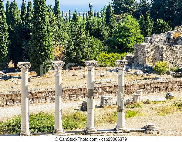 Columns in Asklepion - csp23006379