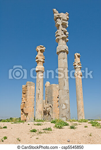 Columns of ancient city of Persepolis - csp5545850